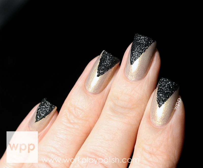 Pure Ice Viva Las Vegas with Pure Ice Black Glitter Pot Tips