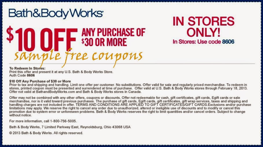 Coupons And Works Store Bath 2014 Body Feb