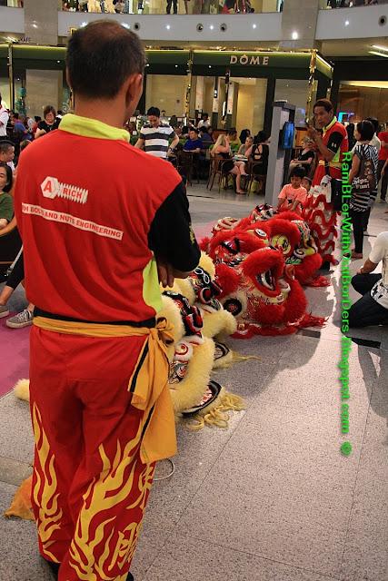 Lion dance, Pavilion Mall, Bukit Bintang, KL, Malaysia