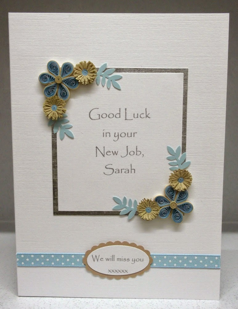 Paper Daisy Cards Quilled new job card
