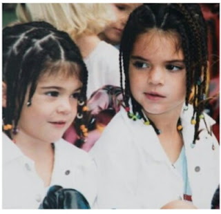 Throwback photo of Kylie and Kendall Jenner