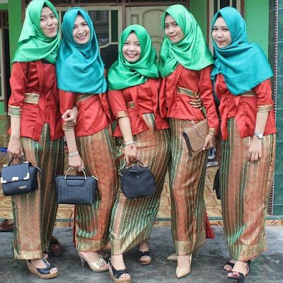 model kebaya batik hijab muslim motif lurik