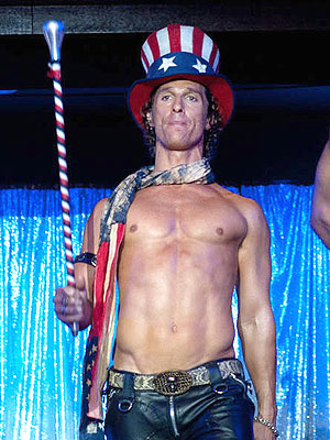 Matthew McConaughey doing his act in Magic Mike movieloversreviews.blogspot.com