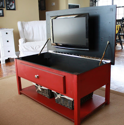 Keep your TV hidden in this clever table