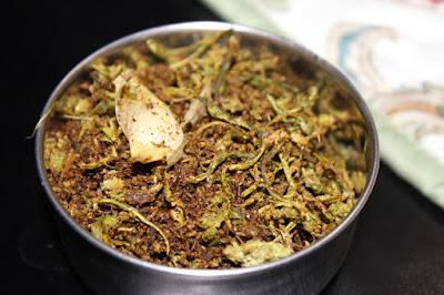 Beera Pottu Fry / Ridge gourd peel fry