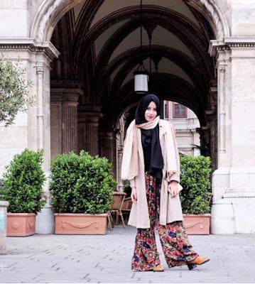 model Celana Kulot Warna Vintage cewek hijabers