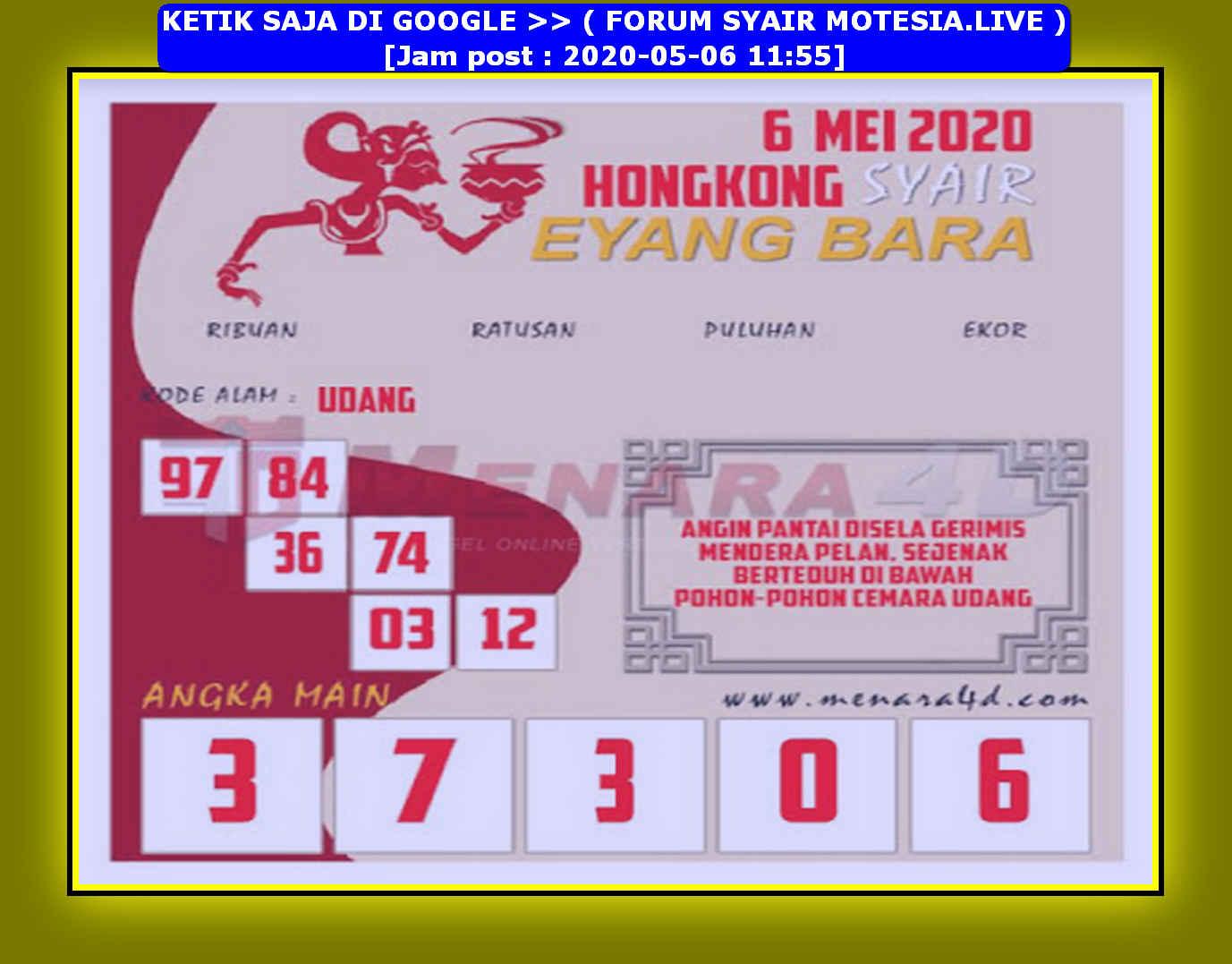 Kode syair Hongkong Rabu 6 Mei 2020 137