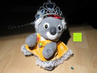 Diadem tragen: Prinzessin Kostüm Karneval Verkleidung Party Cosplay Handschuhe Zauberstab