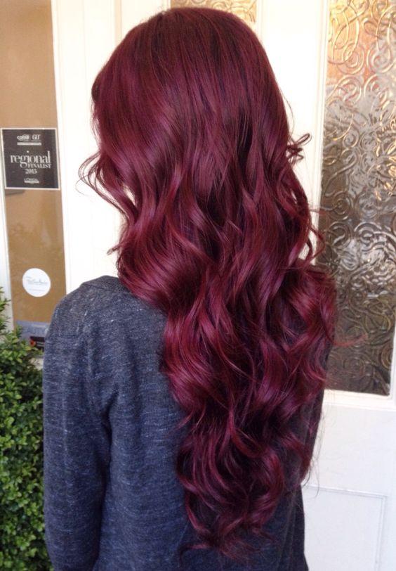 Burgundy Hair Fall