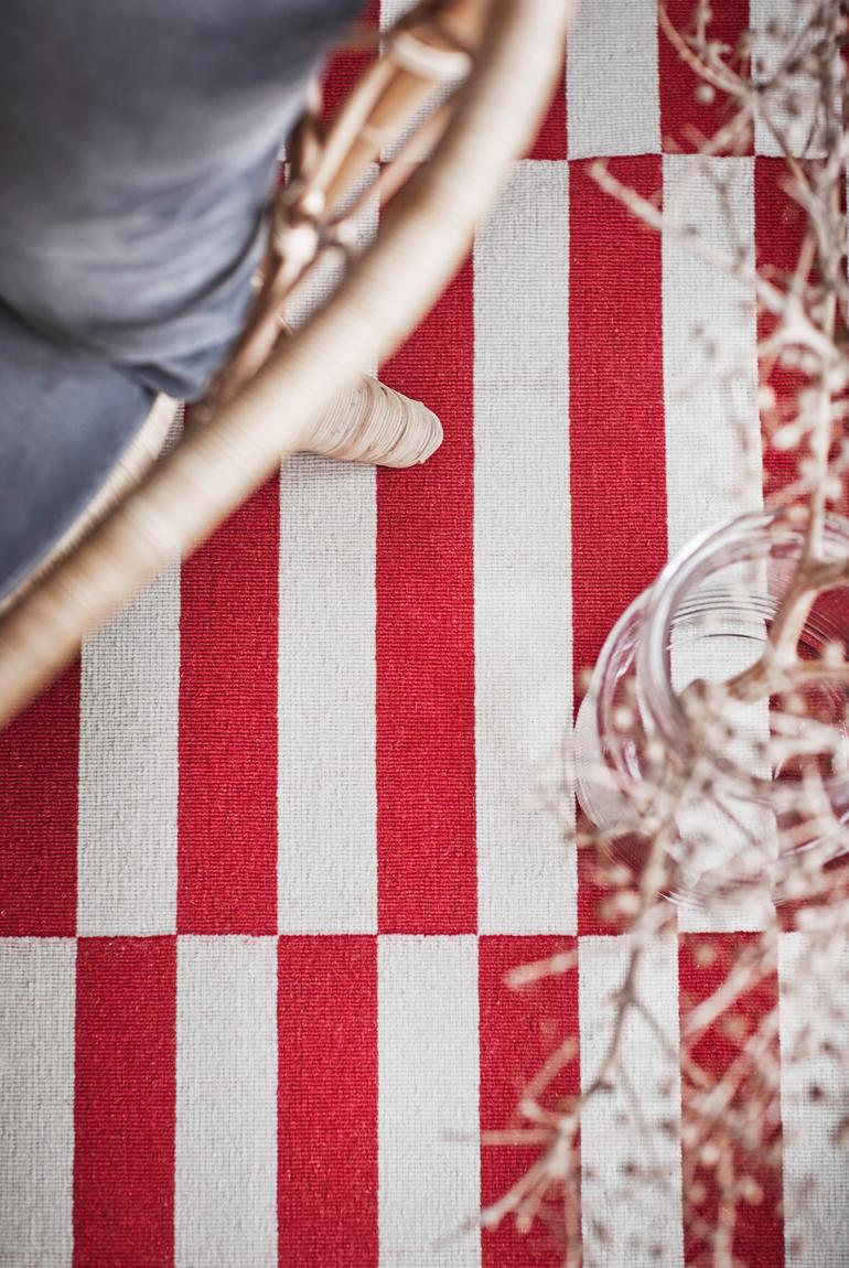 ikea stockholm textiles alfombra patron naranjas