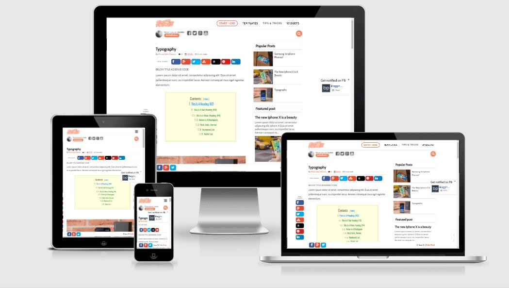 responsive blogger template