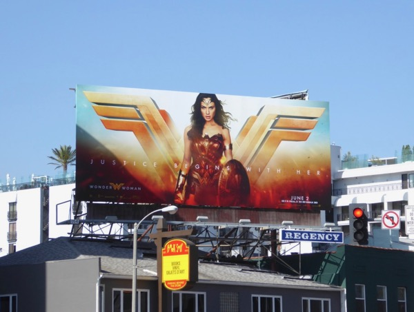 Wonder Woman logo billboard