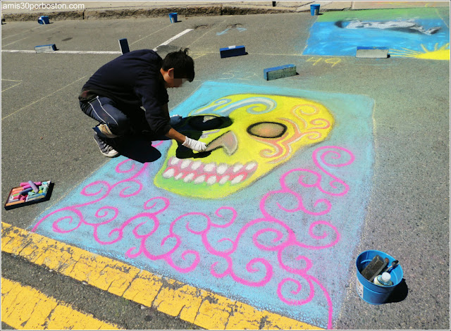 Calavera Chalk on the Walk en la MayFair 2016