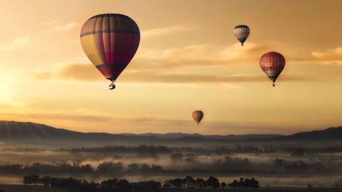 Wallpaper 2: Hot Air Balloons in Landscape