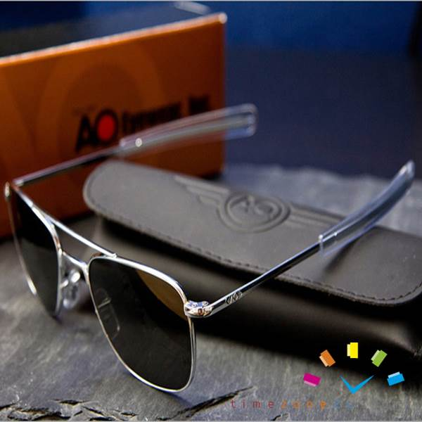 03af311bba9 AO Original Pilot Aviator Sunglasses (52mm 57mm Matt Chrome