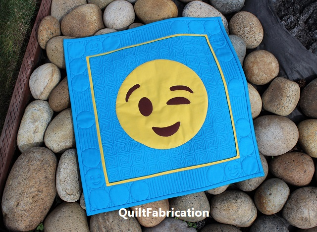 Hey There! Emoji quilt by QuiltFabrication