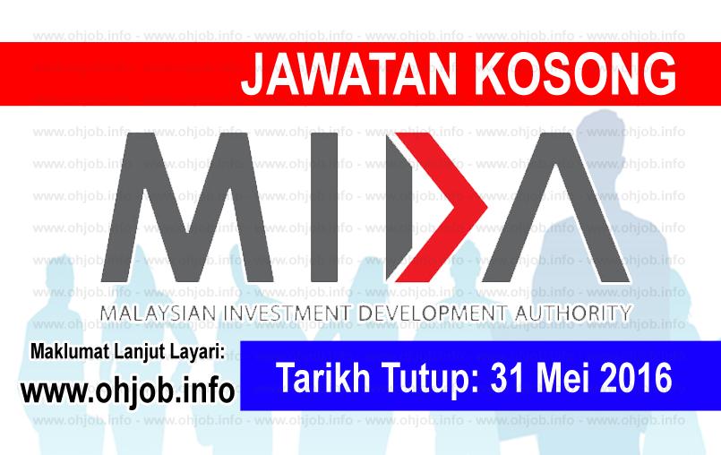 Jawatan Kerja Kosong Malaysian Investment Development Authority (MIDA) logo www.ohjob.info mei 2016