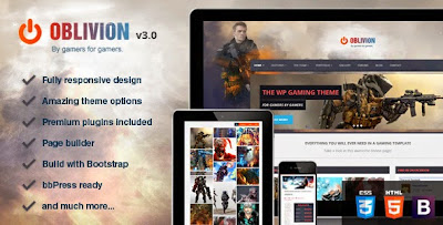 Download ThemeForest Oblivion Gaming WordPress Theme for free.