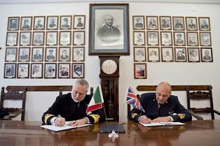 Cooperazione Marina Militare e United Kingdom Hydrographic Office