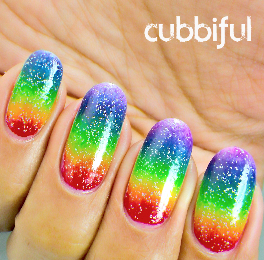 Rainbow gradient and fairy dust