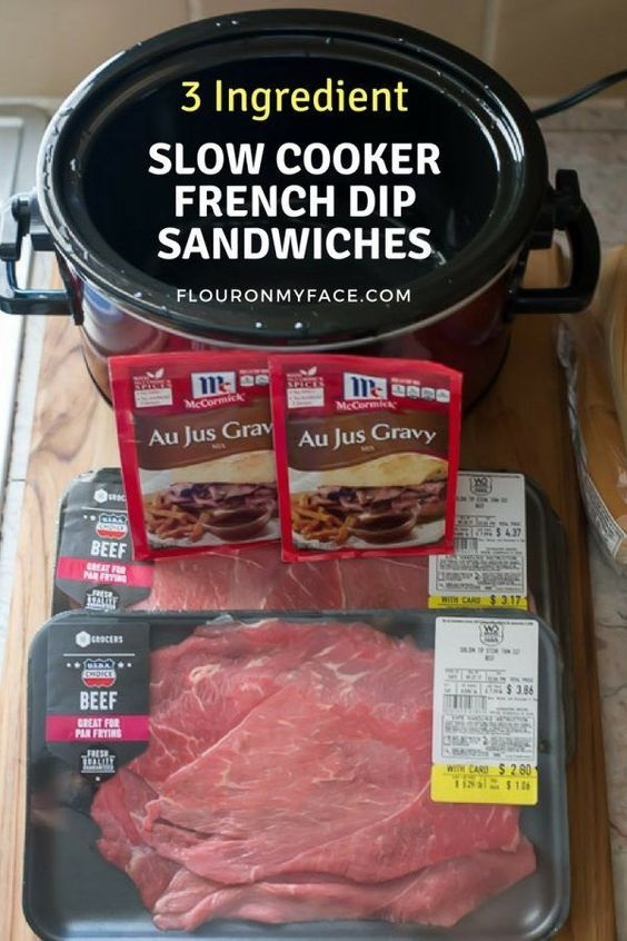 How To Make Crock Pot French Dip Sandwiches