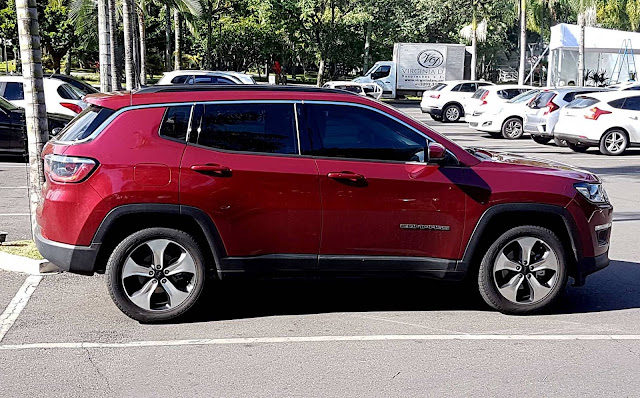 Jeep Compass Longitude 2017 Flex Vermelho Tribal