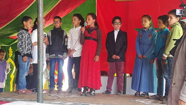 Elèves de l'école Assaghraniya: Des petites voix et des étincelles de joie