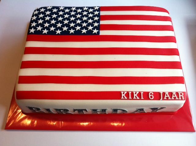 amerikaanse taart Amerikaanse vlag taart | Taarten; Gemaakt door Jonne amerikaanse taart