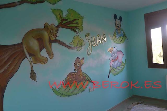 murales bebés tiernos
