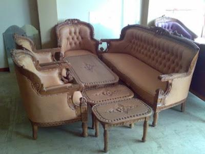 sofa ukir kayu jati jepara