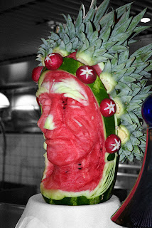 Indian Watermelon Carving by Greyloch on flickr.