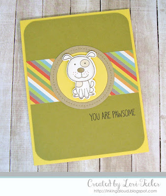 You Are Pawsome card-designed by Lori Tecler/Inking Aloud-stamps and dies from My Favorite Things