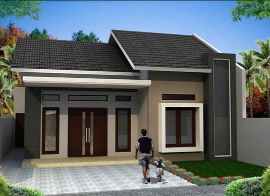 Contoh Denah Rumah Persegi Panjang desain rumah indonesia desain rumah model persegi panjang