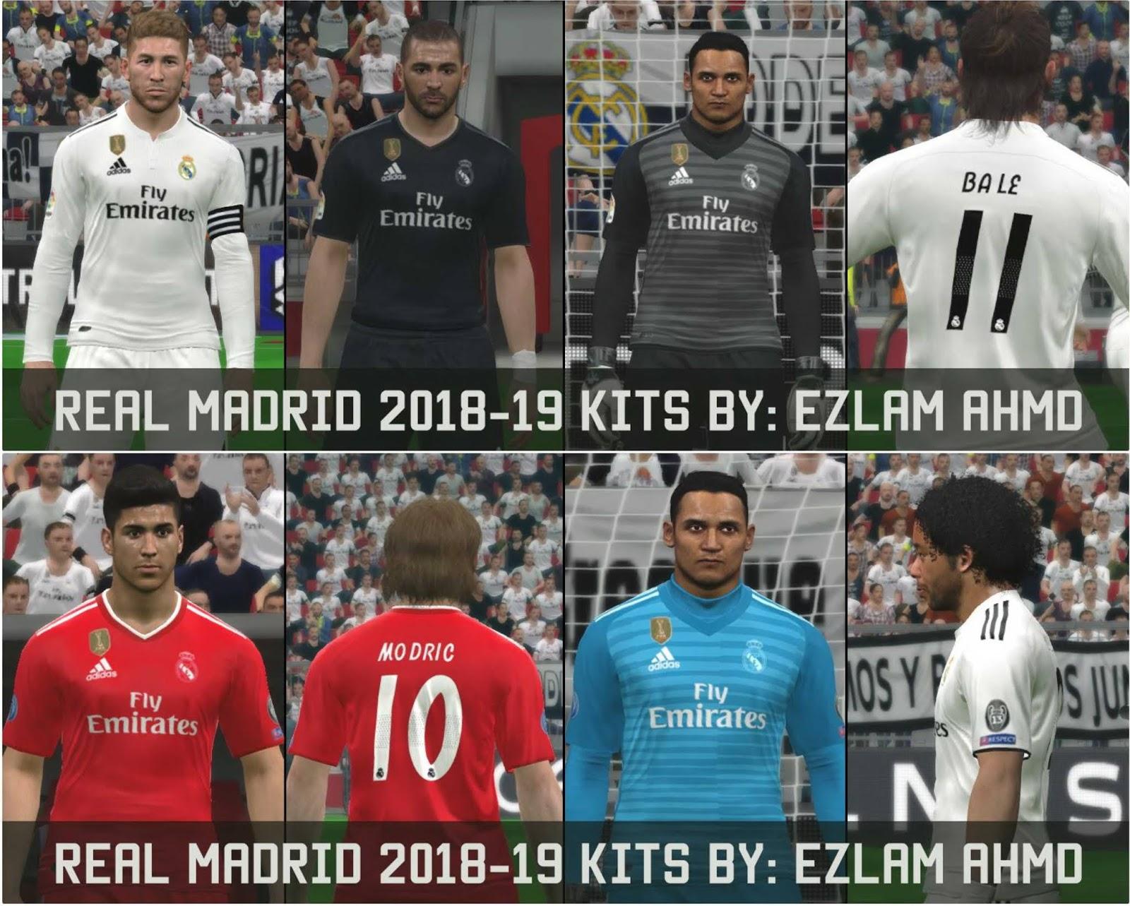 PES 2017 Real Madrid 2018-2019 Kits