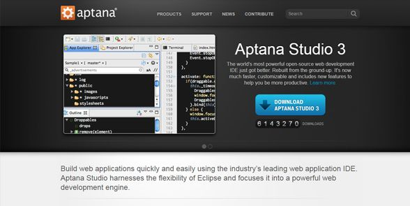 Aptana-HTML-code-editor-2017