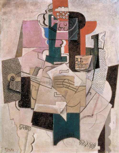 art piece Bowl of Fruit, Violin and Bottle Pablo Picasso