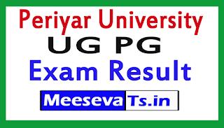 Periyar University UG PG Exam Result