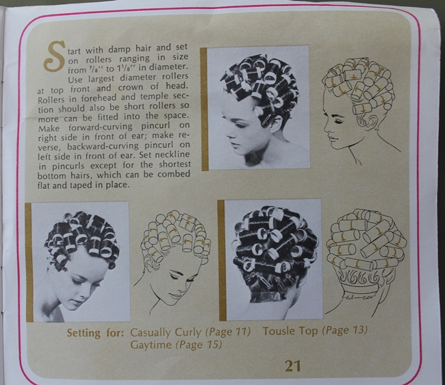 easy 1920s style hot roller sets for gatsby flapper hairstyles
