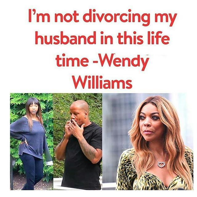Wendy Williams vows not to divorce her husband after he cheated on