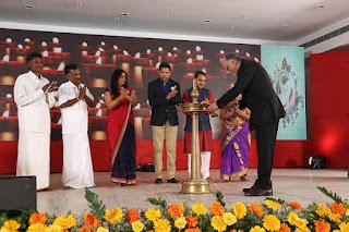 nitin kitchlu MD Tracon ESPL Karur inaugurating the silver jubilee celebrations at Prem Mahal, Karur