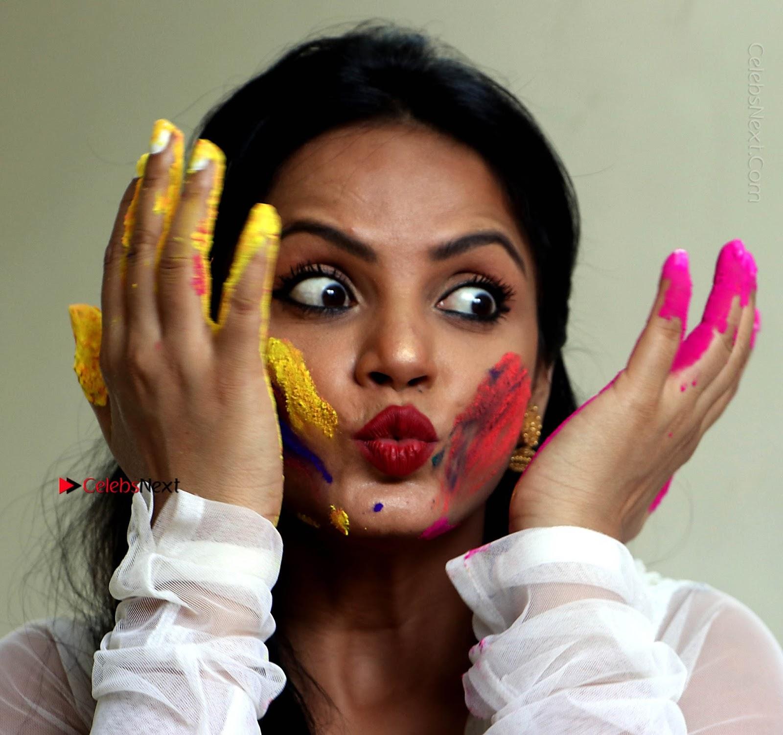 Neetu Chandra Special Photo Shoot Gallery in a Dry Holi Celebration