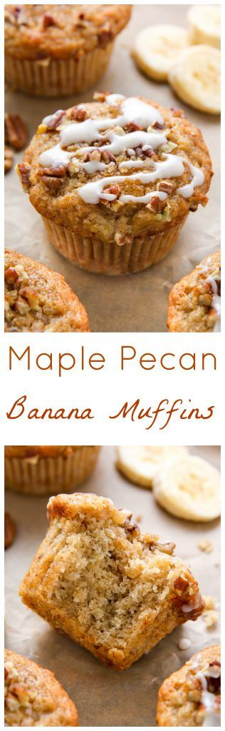 Maple Pecan Banana Muffins Recipe (Vegan)