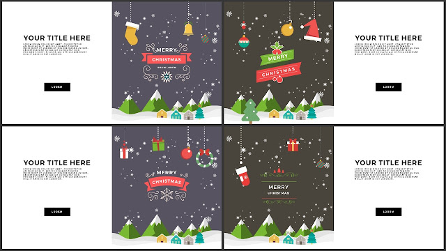 Animated Christmas Free PowerPoint Template Slide 13-16