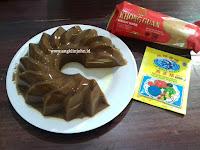 Resep membuat agar agar puding cokelat biskuit khong guan enak