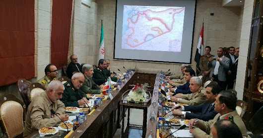 Iranian defense minister in Damascus - the Syrian situation map