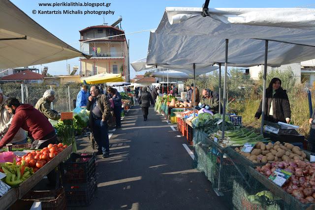 Η νέα λαϊκή αγορά της Τετάρτης στην Κατερίνη. (ΒΙΝΤΕΟ)