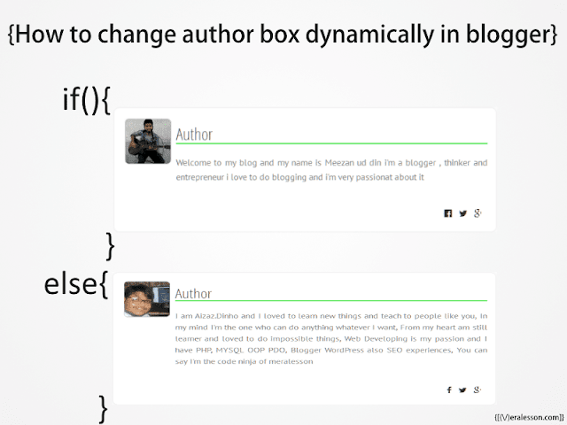 How To Change Author Box Dynamically in Blogger by meralesson