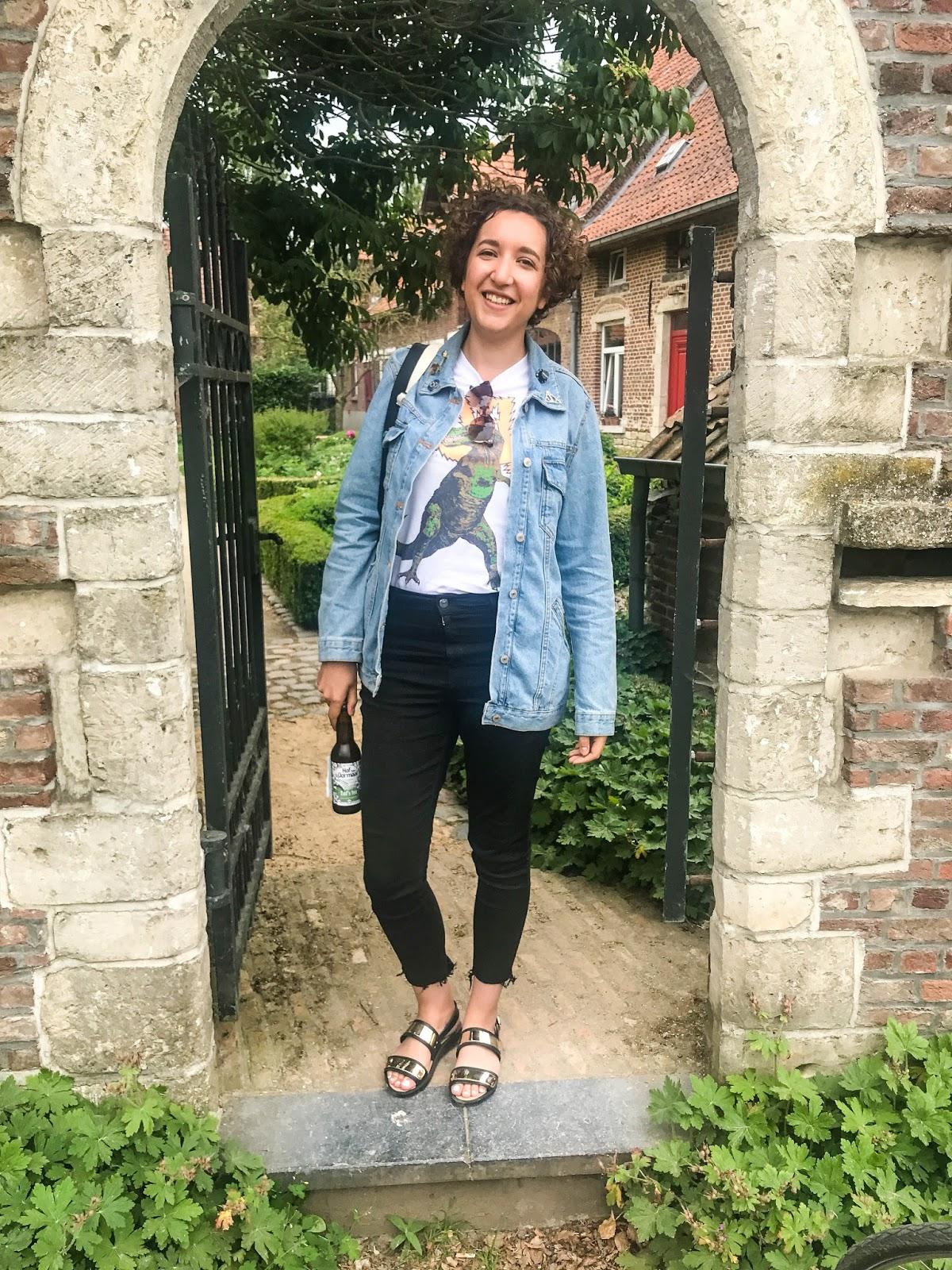 Travel blogger at Hof Ten Dormaal Brewery, Leuven, Belgium