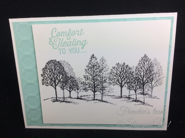 Lovely as a Tree, Flourishing Phrases, Stampin'Up!, Frenchiestamps,