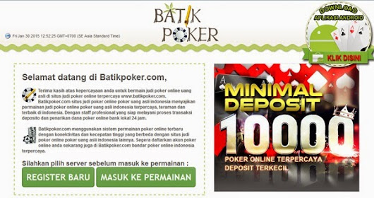 Batik Poker di Android